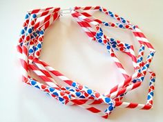 How-To: Festive Jonathan Adler Diet Pepsi Straw Necklace #jonathanadler #necklace #pepsi