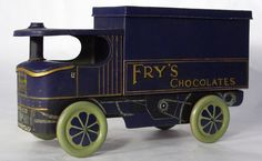 """Scarce """"Fry's Chocolates"""" Steam Lorry Biscuit/Confectionery Figural Tin, c.1920"""