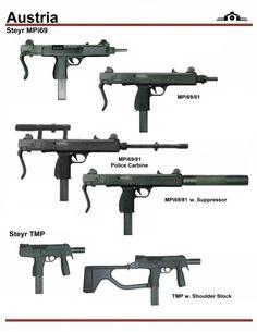 Steyr Arms MP68/TMP Series 9mm Carbine/PDWs.