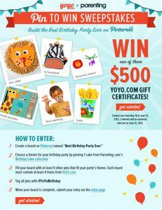 Parenting Pinterest contest