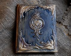 Antique book Magic Book  Book of shadows Diary 21 by Indrasideas, $70.00