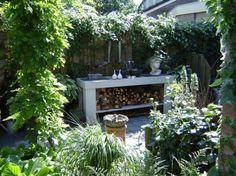 tuin en veranda ideeen | gezellige sfeer met een mooie sidetable! Door Noompje