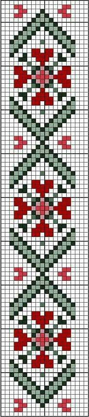 Loom Pattern Hearts bookmark or border. Free sewing pattern graph for cross stitch or plastic canvas. Cross Stitch Bookmarks, Cross Stitch Heart, Cross Stitch Borders, Cross Stitching, Cross Stitch Embroidery, Cross Stitch Patterns, Knitting Charts, Knitting Stitches, Knitting Patterns