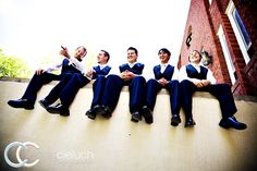 Maybe this could be a dock photo at our venue of the groomsmen