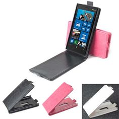 Up-Down Filp PU Leather Magnetic Protective Case For Nokia Lumia 920