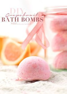Grapefruit Bath Bombs | 10 Easy DIY Bath Bomb Recipes For A More Glorious Bath Time! | Homemade Beauty Recipes by Makeup Tutorials at http://makeuptutorials.com/easy-diy-bath-bomb-recipes-for-a-more-glorious-bath-time/