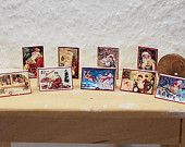 Victorian Christmas Cards Miniature 1 to 12