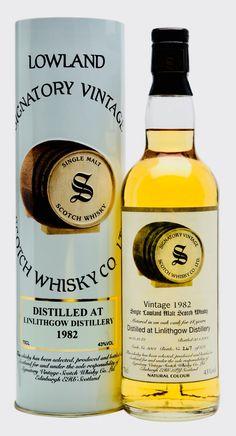 LINLITHGOW 1982 18 Year Old Signatory, Lowlands Rum Bottle, Liquor Bottles, Scotch Whiskey, Bourbon Whiskey, Fun Drinks, Alcoholic Drinks, Spirit Drink, Single Malt Whisky, Wine And Spirits