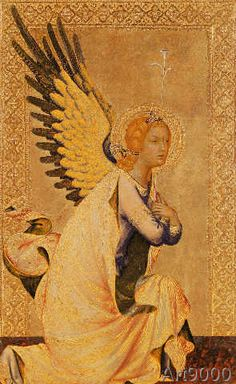 Simone Martini - The Angel of the Annunciation I religious icons. Angels Among Us, Angels And Demons, Religious Icons, Religious Art, Martini, Renaissance Kunst, Fra Angelico, Archangel Gabriel, Italian Painters