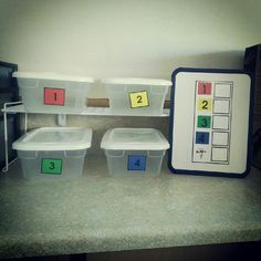 Task boxes ready