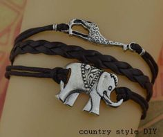 infinity bracelet jewelry bracelet elephant by CountrystyleDIY, $2.99