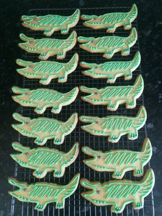 Crocodile Biscuits by Dinky Dots