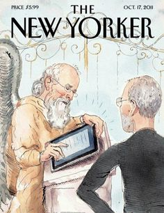 Love It: Steve Jobs: the New Yorker's tribute cover. Illustration: The New Yorker The New Yorker, New Yorker Covers, Cool Magazine, Magazine Art, Magazine Design, Magazine Covers, Book Of Life, The Book, Apple Steve Jobs