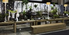 The amazing Long Table by Art in the Forest at Design South Africa South Africa, Amazing, Table, Plants, Design, Art, Art Background, Kunst