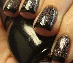 dark nail polish that will take your next manicure from Goth to glam... - Click image to find more nail art posts