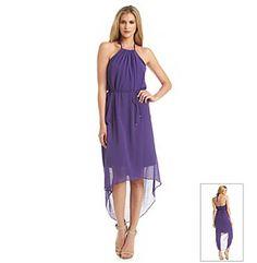 Marc New York Chiffon High Low Hem Halter Dress
