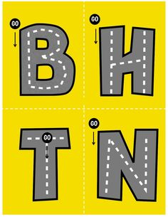 Abecedario de carreteras genial para trabajar la motricidad -Orientacion Andujar Montessori Materials, Montessori Toys, Playdough To Plato, Emergent Literacy, Learning Tower, Abc Activities, Busy Book, Toddler Gifts, Projects For Kids