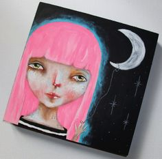 Fallen from the moon - original painting by Micki Wilde