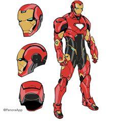 """concept art for tony's new armor in tony stark: iron man issue 15 (tmr!) by valerio schiti"" Hq Marvel, Marvel Dc Comics, Marvel Heroes, Iron Man Fan Art, Armor Concept, Concept Art, Character Art, Character Design, Superhero Characters"