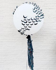 Custom made jumbo balloon with bats for halloween Jumbo Balloons, Halloween Balloons, Rock Paper Scissors, Centre Pieces, Bats, Birthday, Parties, Instagram, Fiestas