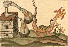 Alchemy: Zoroaster Clavis Artis, Ms-2-27, Biblioteca Civica Hortis, Trieste, vol. 2, pag. 22, 1738. An #Alchemy artwork.