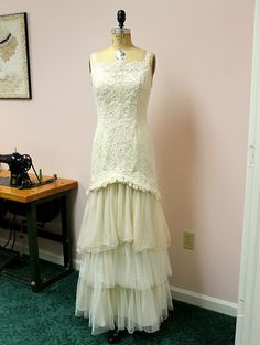 Wedding Gown Mermaid Upcycled Vintage Lace by GlorybyJeannieLee, $625.00. Make a short dress long, or redo a damaged skirt!