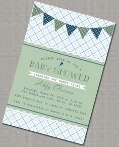 Custom Boy Baby Shower Invitation Invite Plaid by alittletreasure, $15.00