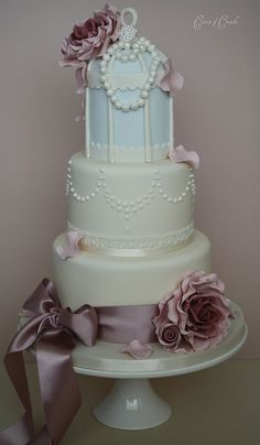 Another birdcage cake ! by Cotton and Crumbs, via Flickr