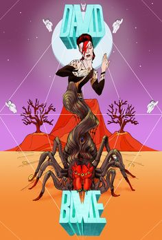 Spiders from Mars  Art Print
