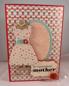 kareN stampZ : Stampin' Up! All Dressed Up using More Amore DSP - scrummy & a lot of fun