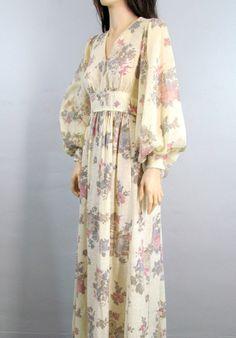 60's / 70's Hippie Boho Dress Maxi