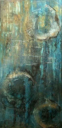 Mischtechnik auf Leinwand 50x100x4 cm, Annette Kleiner Texture Painting, Texture Art, Scratchboard Art, Collages, Surrealism Painting, Modern Artists, Abstract Wall Art, Beautiful Paintings, Art Forms