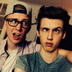 Tyler Oakley and Troye Sivan