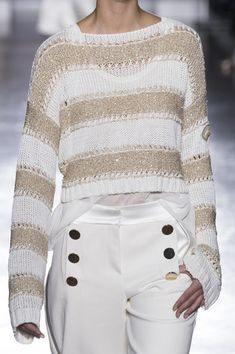 Les Copains at Milan Fashion Week Spring 2019 - spring fashion Knitwear Fashion, Knit Fashion, Sweater Fashion, Womens Fashion, Cheap Fashion, Affordable Fashion, Spring Fashion Trends, Milan Fashion Weeks, London Fashion