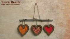 How to make Rustic Hearts from a corchet i-cord by Sharon ojala