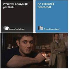 Destiel - Misha's face...