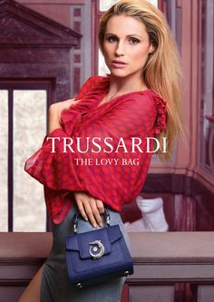 Star of LOVY's first campaign, Michelle Hunziker returns as testimonial, her natural elegance, beauty and vivacious personality underscoring the same characteristics found in LOVY. Photo: Fabio Leidi #LOVYBag #LOVYLover #Trussardi