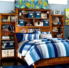Blue Bedroom For Teenage Boys teenage boy room colors |  white hc-84 and admiral blue 2065-10