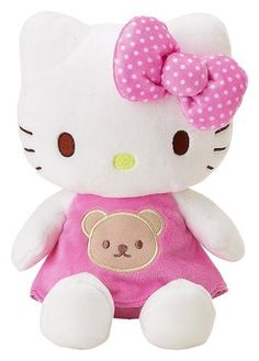 Hello Kitty - pink dress with teddy bear face Sanrio Hello Kitty, Peluche Hello Kitty, Hello Kitty Baby, Here Kitty Kitty, Sentimental Circus, Miss Kitty, Hello Kitty Collection, Kawaii, Hello Kitty Wallpaper