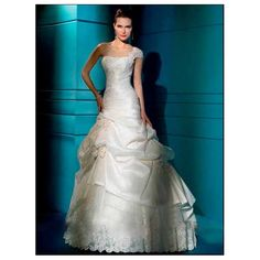 Taffeta one strap slim applique bodice pick up a line skirt with tulle underlay in chapel train new wedding dress WD-135