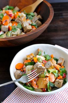 Baked Tofu Banh Mi Salad (with vegan variation) | the pig & quill