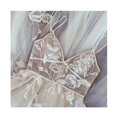 Strappy grey wedding dress with large floral embroidery and beading. #willowby Dream Dress, I Dress, Beautiful Wedding Gowns, Gray Weddings, Floor Length Dresses, Bridal Boutique, Bridal Dresses, Designer Dresses, Bride
