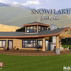 ft - Snowflake© R. Cad Design Drafting Ltd. Unique House Plans, Unique Floor Plans, Log Home Floor Plans, Lake House Plans, Small House Plans, Building Design, Building A House, Log Home Living, Log Home Designs