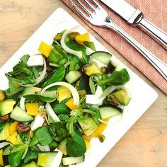 Detox Lunch, Detox Tips, Feta Salad, Tzatziki, Barbecue, Avocado, Mango, Spinach, Salads