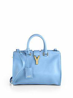 Saint+Laurent Saint+Laurent++Petite+Y+Line+Top-Handle+Bag
