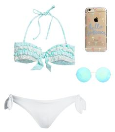 """Swim day"" by cdembickie on Polyvore featuring Canvas by Lands' End, Agent 18 and Victoria Beckham"