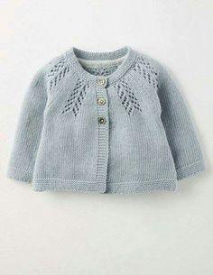 Patrón y tutorial de chaqueta de punto para bebé paso a paso