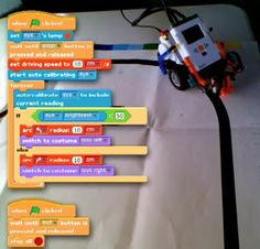 Clinton Blackmore wrote in to share Enchanting, a visual programming tool that uses Scratch (as well as LeJOS firmware on the NXT brick) to create a Stem Projects, Lego Projects, Science Projects, Stem Robotics, Robotics Club, Lego Nxt, Lego Robot, Lego Wedo, Lego Mindstorms