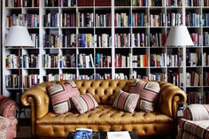 20 Drool-Worthy Home Libraries via Brit + Co