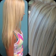 You know I love my blondes! Full heavy highlight, no toner, complimentary Steam Infusion Treatment. Last night! Blonde Color, Hair Color, Heavy Blonde Highlights, Birthday Hair, Split Ends, Hair Dos, Blondes, Blonde Hair, Salons